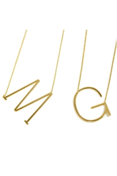 Cool and Interesting Medium Initial Necklace - Alternate List Image