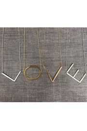 Cool and Interesting Medium Initial Necklace - Front cropped