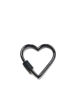 Shoptiques Product: Medium Outlined-Heart Charm