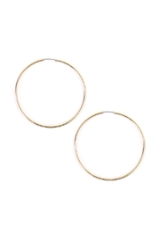 Riah Fashion Medium Plain Hoop - Product Mini Image