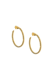Officina Bernardi Medium Slash Earrings - Front cropped