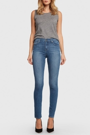 Principle Denim Medium-Wash High-Rise Cigarette - Front full body