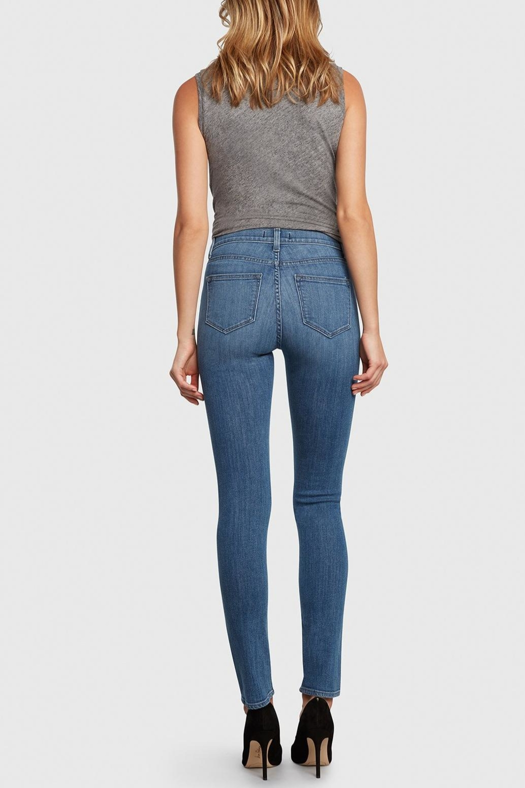 Principle Denim Medium-Wash High-Rise Cigarette - Side Cropped Image