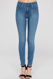 just black Medium-Wash Skinny Jean - Product Mini Image