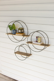Kalalou MEDIUM WOODEN SHELF - Product Mini Image