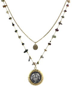 Fabulina Designs Medusa Tourmaline Layered Necklace - Alternate List Image