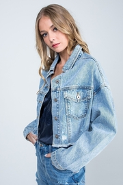 Special A Megan Crop Distress Jean Jacket - Product Mini Image