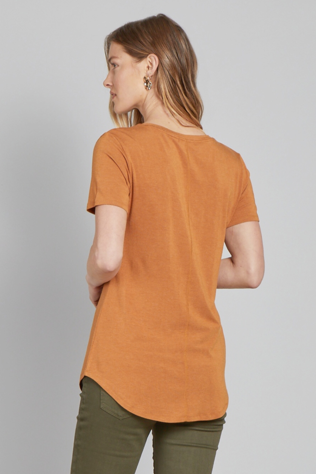 another love  MEGAN V-NECK TEE - Front Full Image