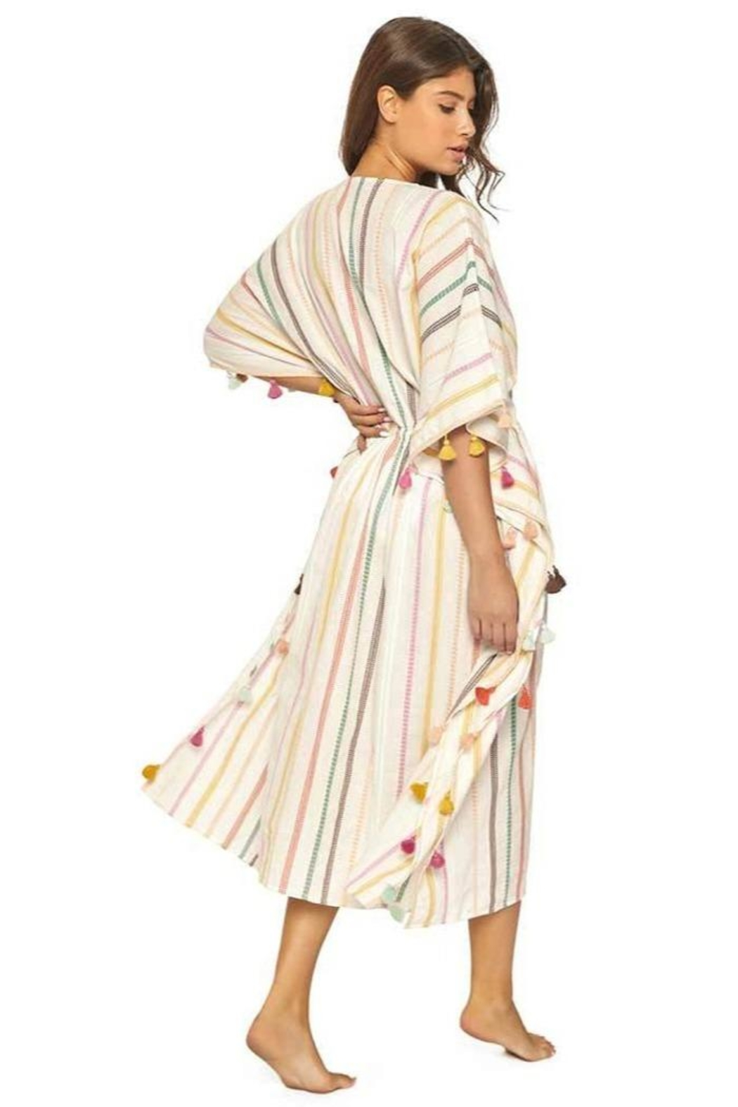 PilyQ Meghan Tassel Coverup - Side Cropped Image