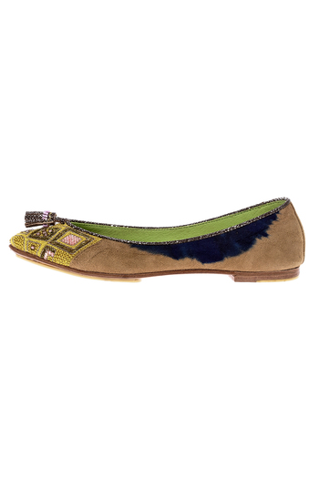 Shoptiques Product: Beaded Point Ballet Flat - main