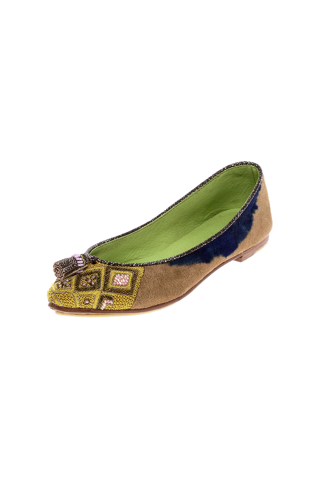 Meher Kakalia Beaded Point Ballet Flat - Back Cropped Image