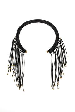 Shoptiques Product: Black Fringed Collar
