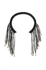 MEIRAV OHAYON Black Fringed Collar - Product Mini Image