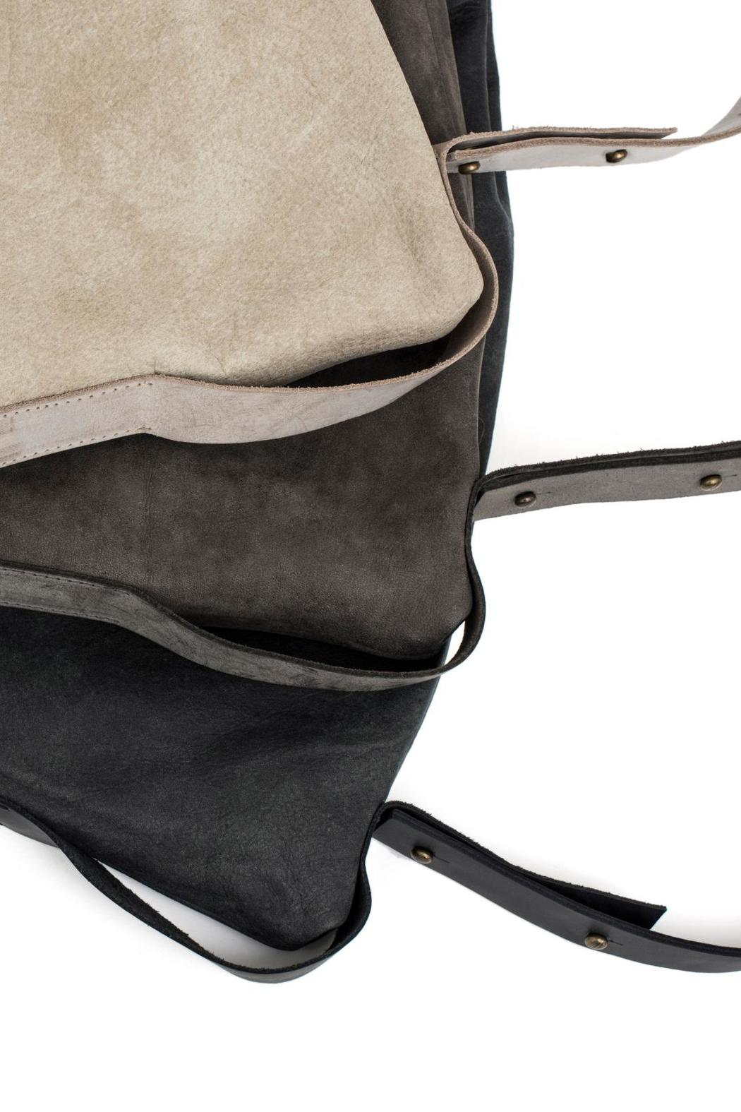 MEIRAV OHAYON Charcoal Drawstring Backpack - Back Cropped Image