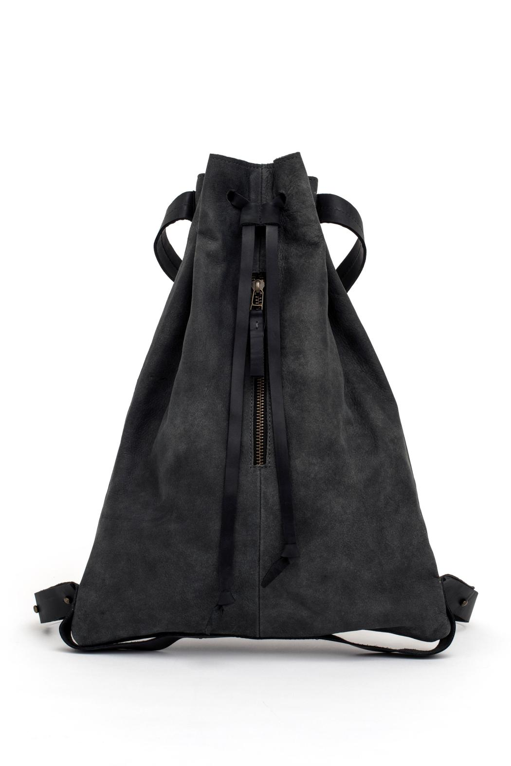 MEIRAV OHAYON Charcoal Drawstring Backpack - Front Full Image