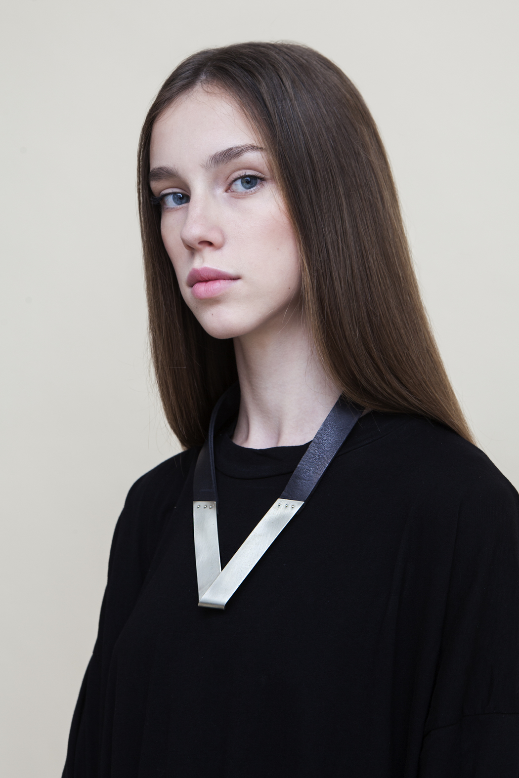 MEIRAV OHAYON Folded Leather Necklace - Front Full Image