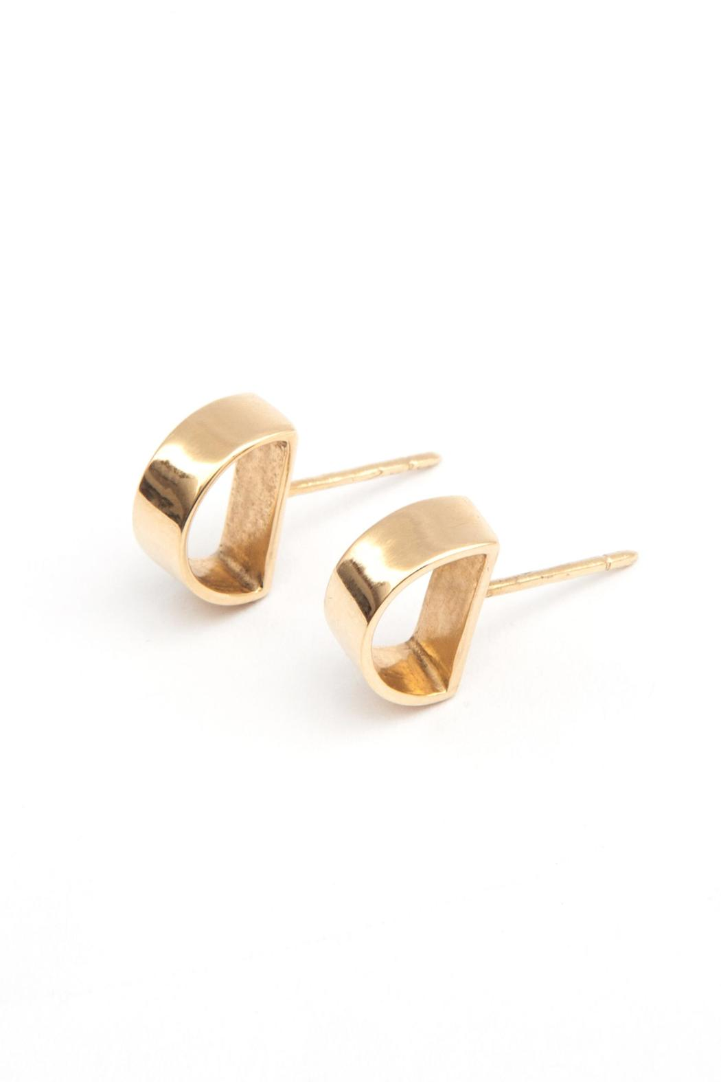 MEIRAV OHAYON Gold Moon Studs - Front Full Image