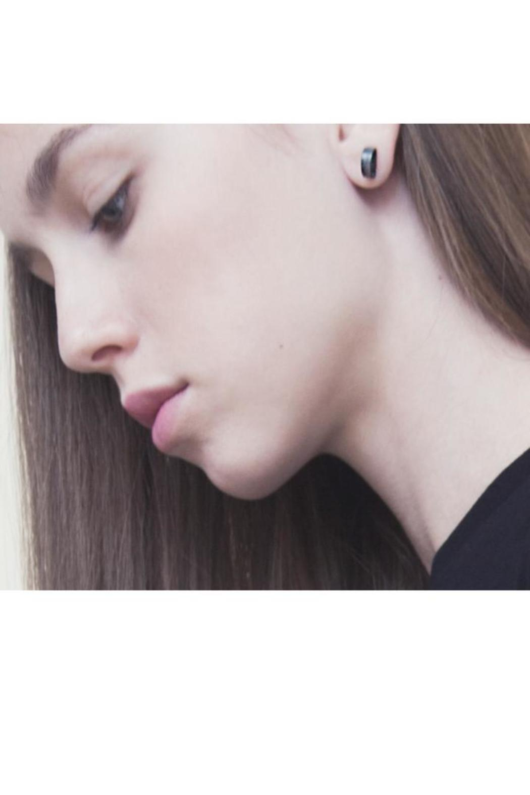 MEIRAV OHAYON Gold Moon Studs - Side Cropped Image