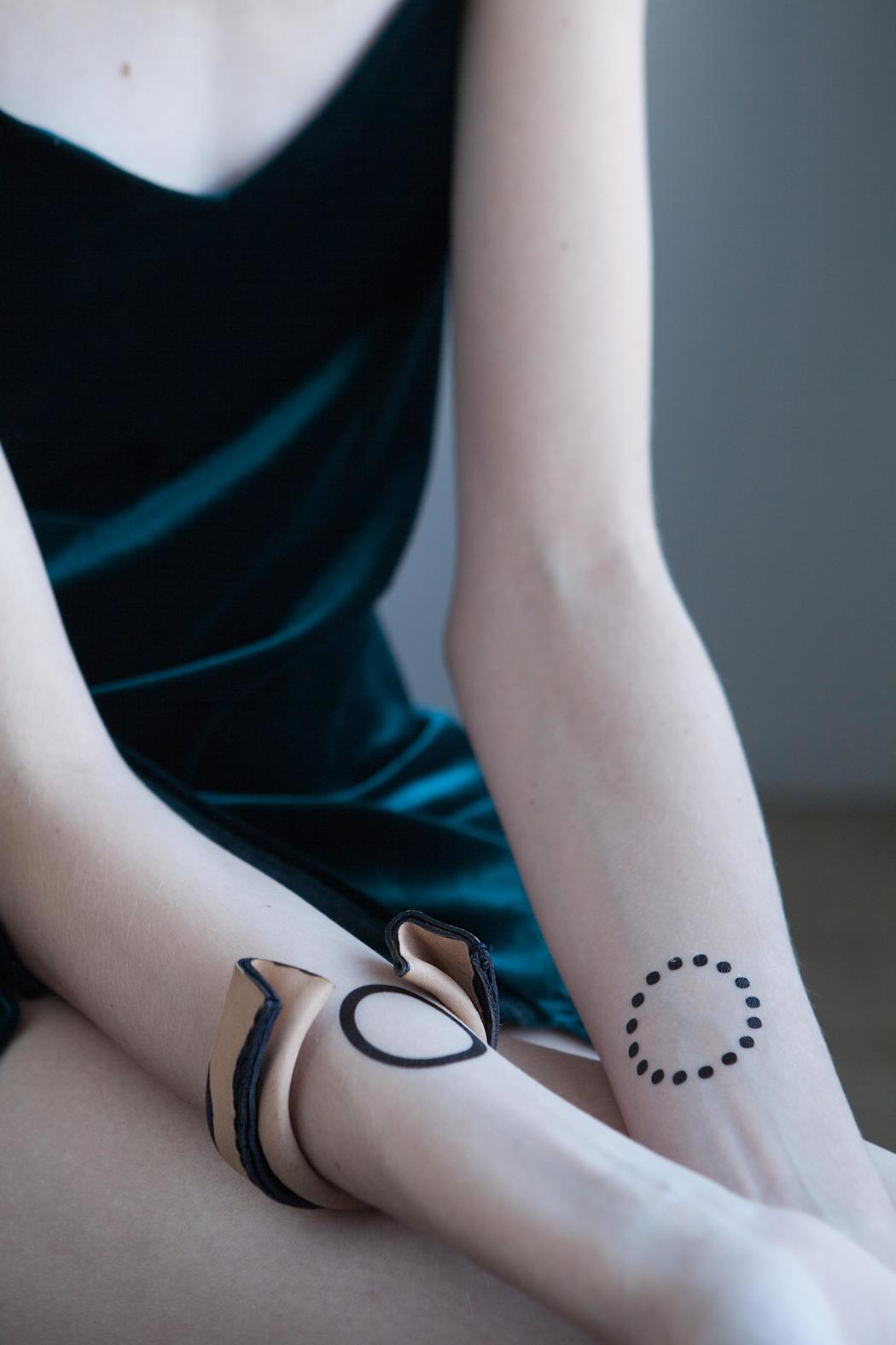 MEIRAV OHAYON Leather Cuff Bracelet - Front Full Image