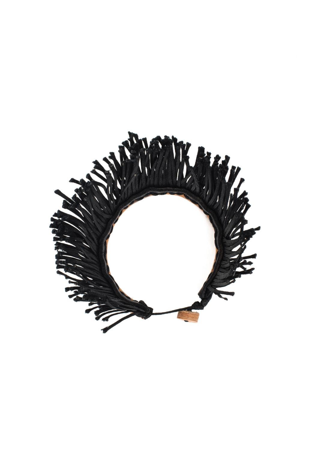 MEIRAV OHAYON Leather Fringe Bracelet - Side Cropped Image