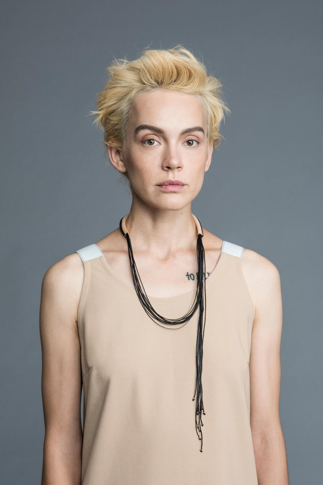 MEIRAV OHAYON Strand Leather Necklace - Back Cropped Image