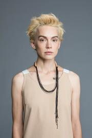MEIRAV OHAYON Strand Leather Necklace - Back cropped