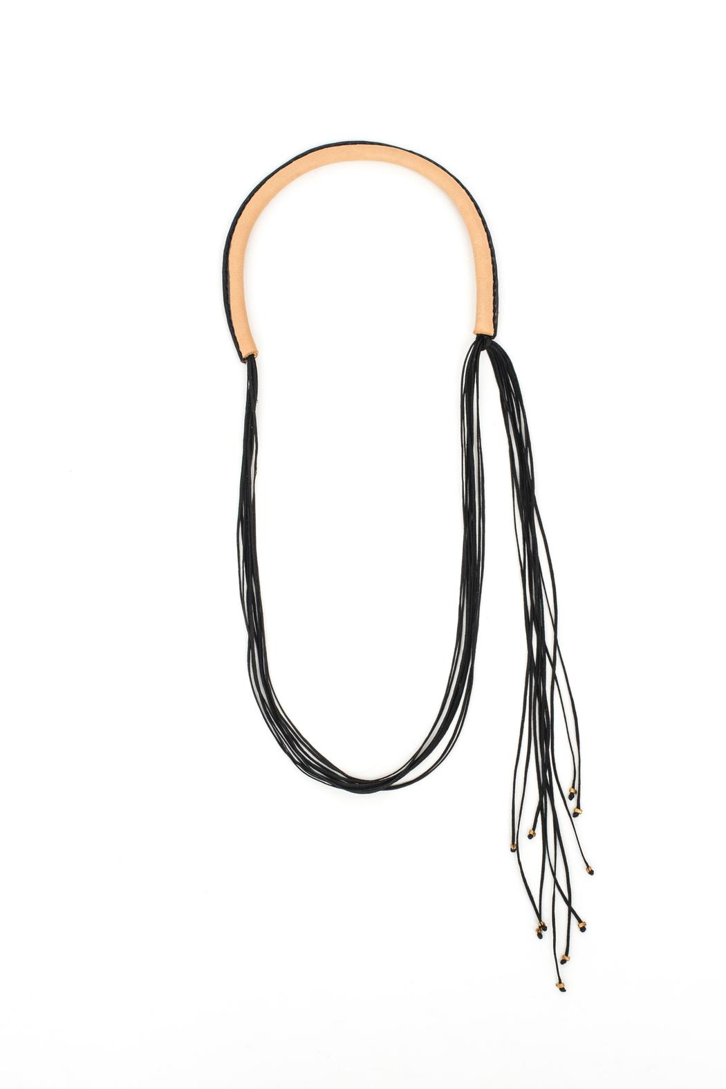 MEIRAV OHAYON Strand Leather Necklace - Side Cropped Image