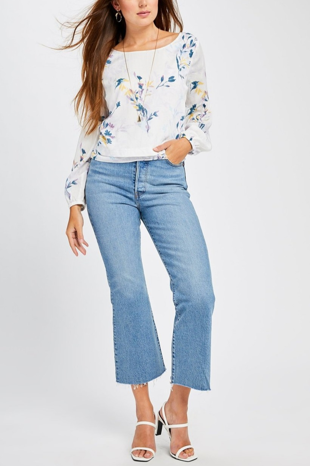 Gentle Fawn Mel Floral Blouse - Front Cropped Image