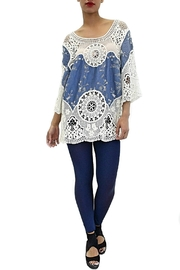 Melanera Chambray Crochet Tunic - Product Mini Image