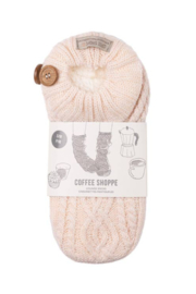 Coffee Shoppe Melange Cable/Rib Knit Booties - Front cropped