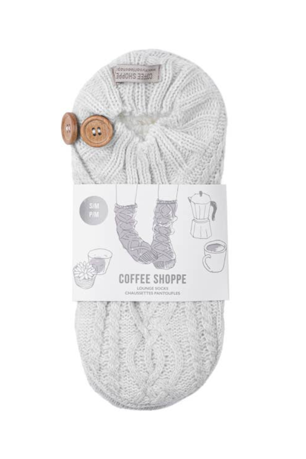 Coffee Shoppe Melange Cable/Rib Knit Booties - Front Cropped Image