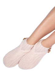 Coffee Shoppe Melange Cable/Rib Knit Booties - Side cropped