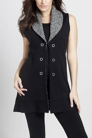 Angel Apparel Melange Knit Collar Vest - Product Mini Image
