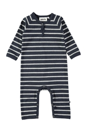 Molo Melange Stripe Playsuit - Front cropped