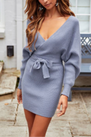 ONE AND ONLY COLLECTIVE Melanie Ribbed Sweater Dress - Product Mini Image