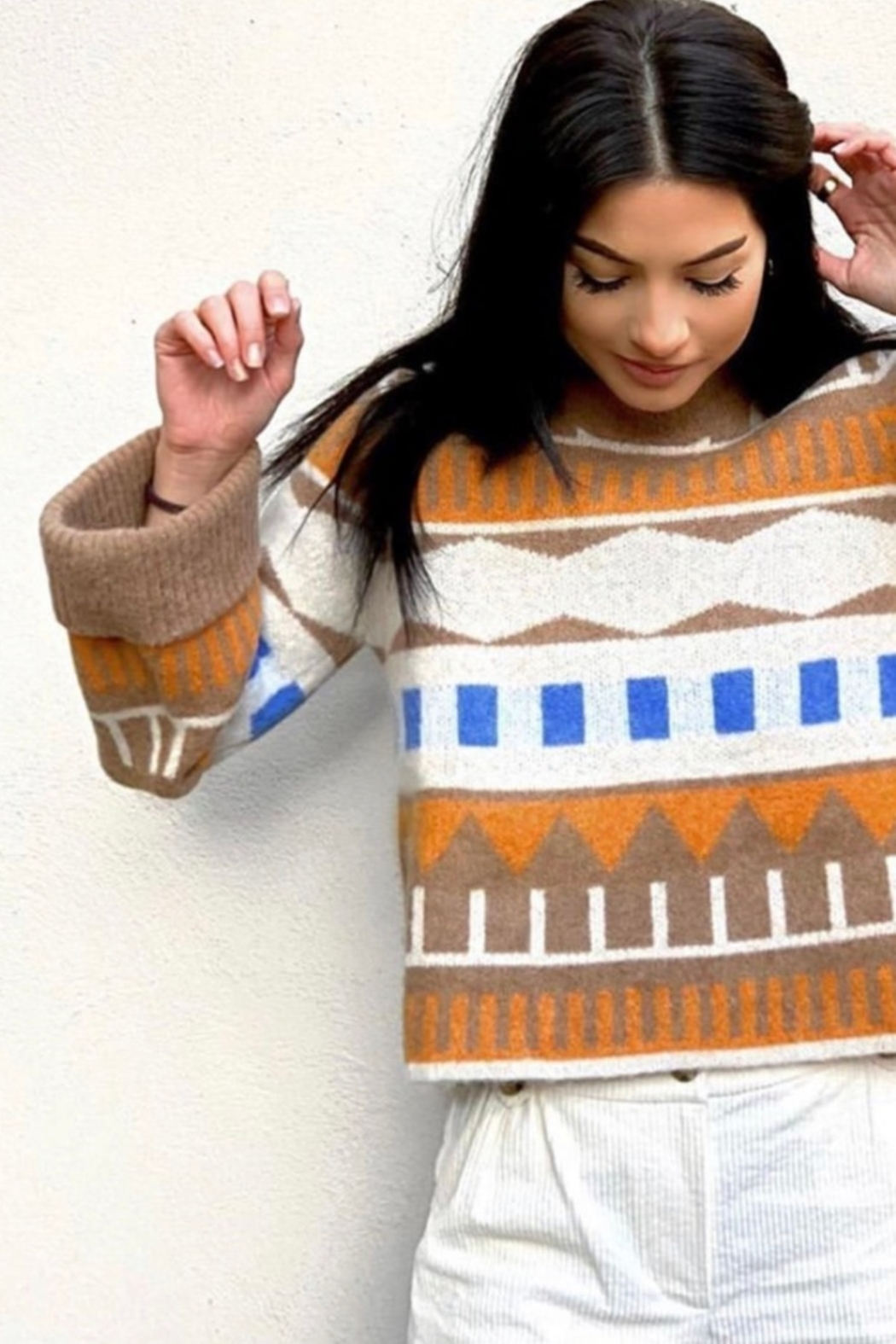 Just Female Melba Knit Sweater - Front Full Image