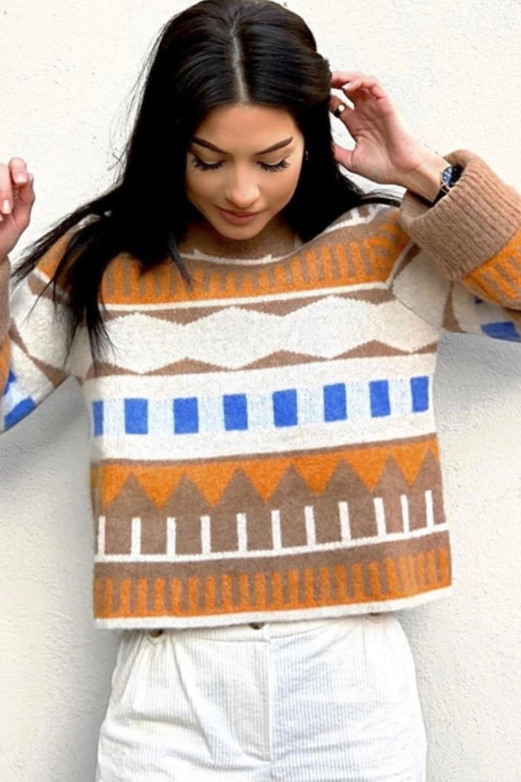 Just Female Melba Knit Sweater - Front Cropped Image