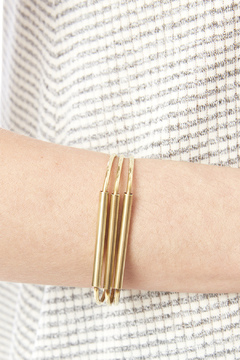 Melene Kent Jewels Brass Bar Bangle - Alternate List Image