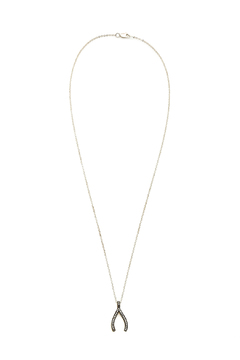 Melene Kent Jewels Pave Wishbone Necklace - Product List Image