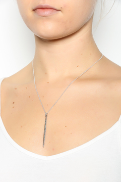 Melene Kent Jewels Silver Pave Spike Necklace - Alternate List Image