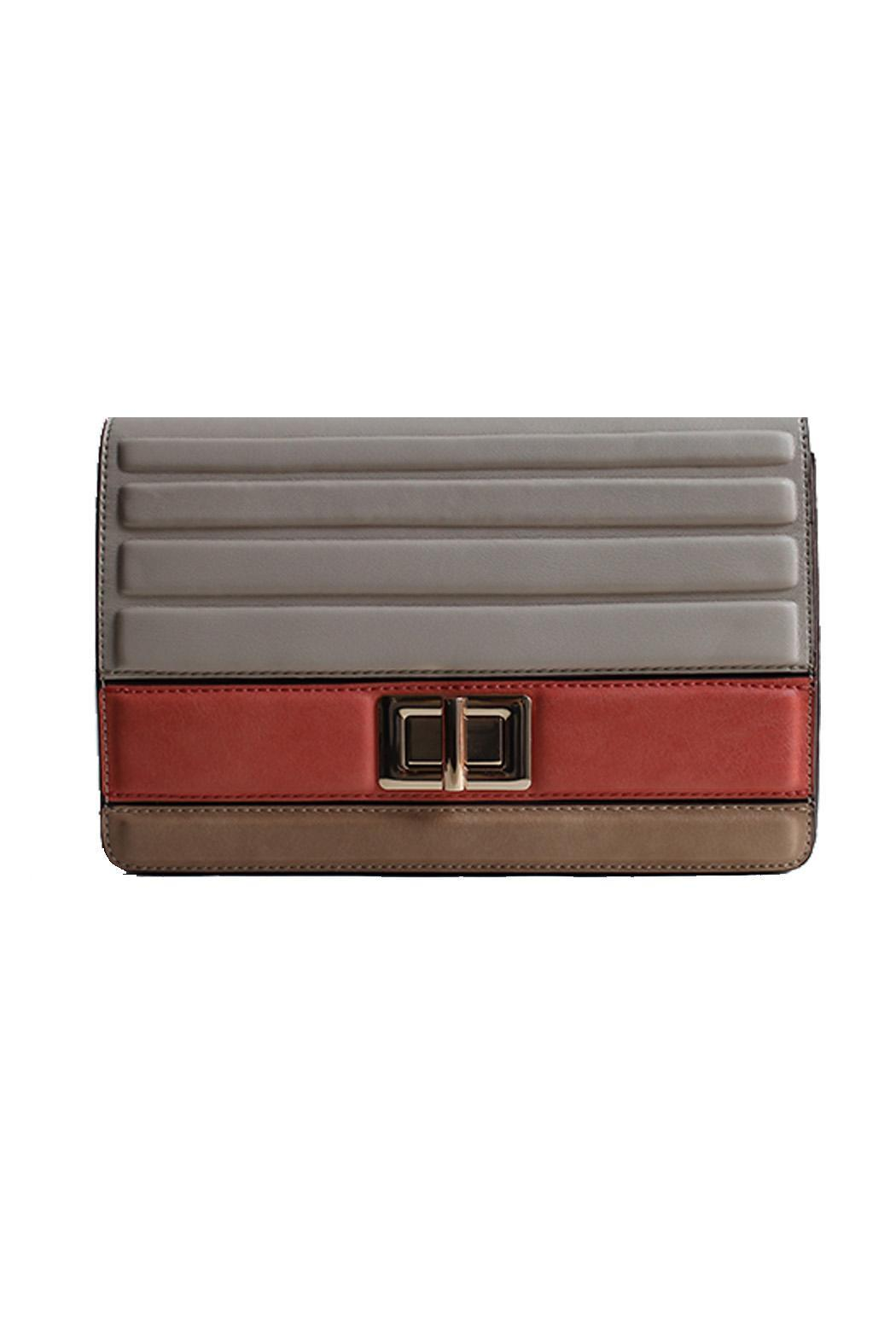 Meli Bianco Coral Beige Clutch - Front Cropped Image
