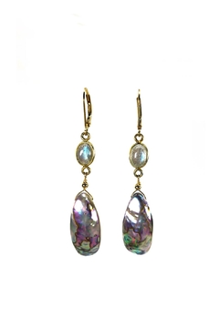 Shoptiques Product: Abalone Labradorite Earrings