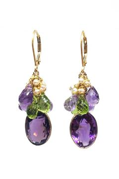 Melinda Lawton Jewelry Amethyst Peridot Earrings - Alternate List Image