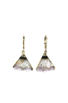 Shoptiques Product: Amethyst Slice Earrings