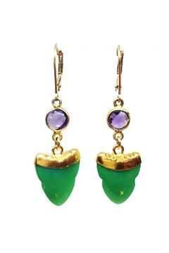 Shoptiques Product: Chrysoprase Amethyst Earrings