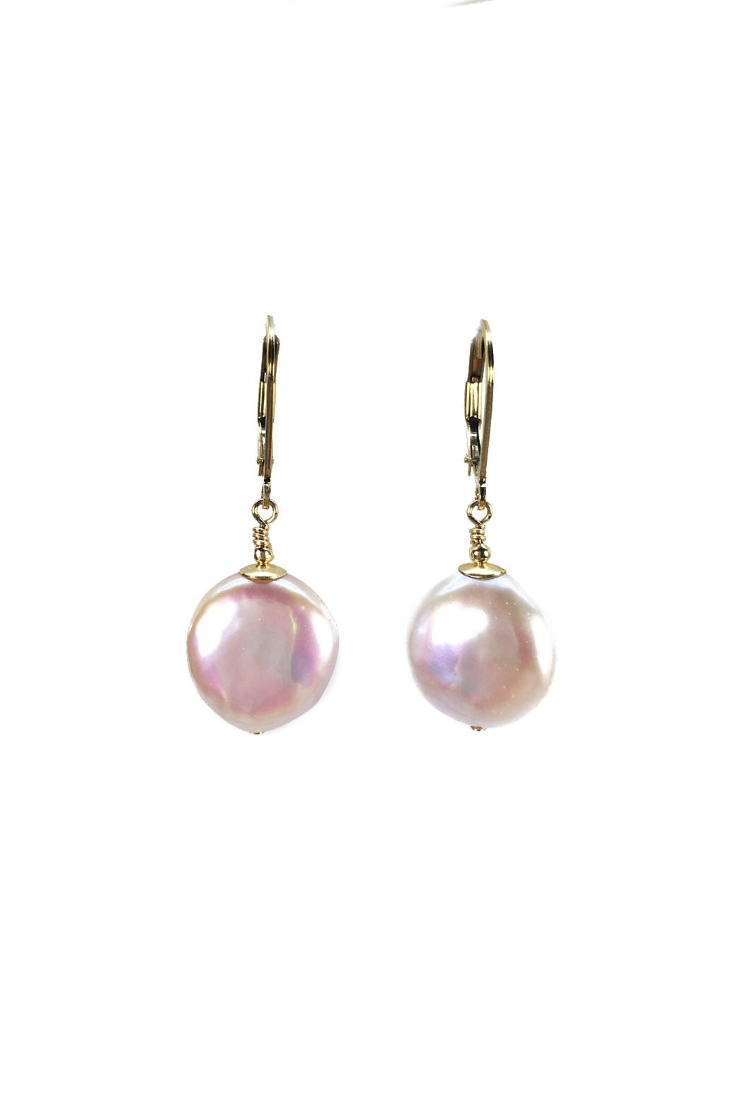 Melinda Lawton Jewelry Coin Pearl Earrings - Main Image