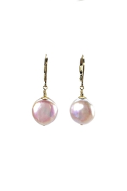 Melinda Lawton Jewelry Coin Pearl Earrings - Front cropped