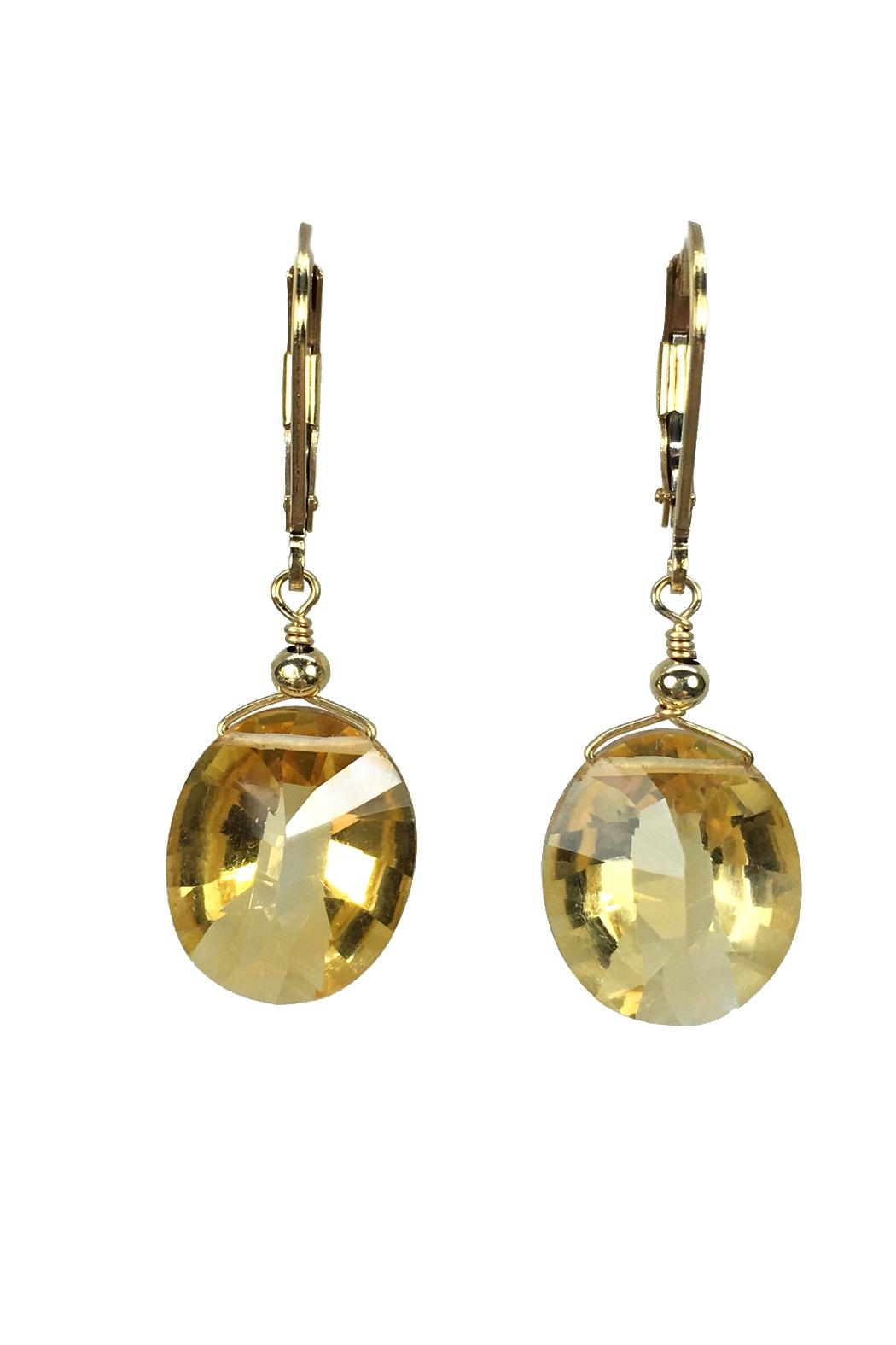 Melinda Lawton Jewelry Faceted Citrine Earrings - Main Image