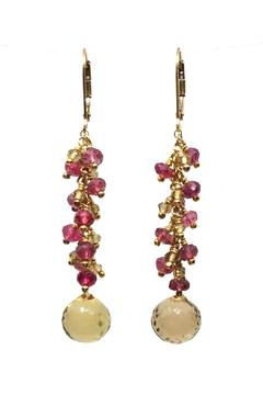 Melinda Lawton Jewelry Garnet Citrine Earrings - Alternate List Image