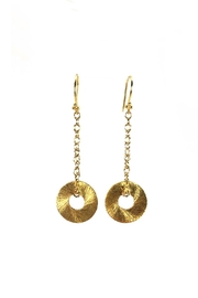 Melinda Lawton Jewelry Gold Disc Earrings - Product Mini Image